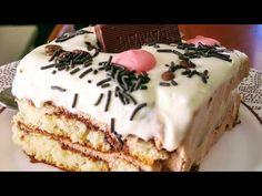 ΤΟΎΡΤΑ με σαβαγιάρ ,με γεύση όπως παλιά, η πιο αφρατη σπιτική τούρτα,έτοιμη σε 10' χωρίς ψησιμο - YouTube Dessert Recipes, Desserts, Tiramisu, Cakes, Ethnic Recipes, Youtube, Food, Tailgate Desserts, Deserts