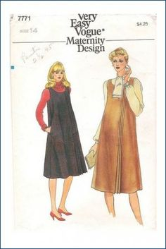 Vogue 7771 Maternity Sewing Pattern Misses Jumper Blouse Size 14