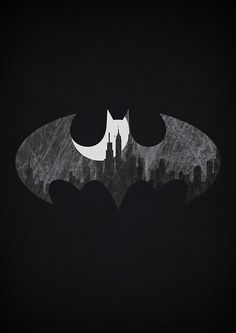 Batman // Minimalistic Superhero Posters by Alex LItovka