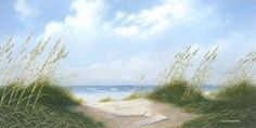 """Art in the Home- """"Path to the Beach"""" by Jim Harrison. My Grandmother and Mom personally know this artist, and we have a few of his pieces in our home. Yes I have personally experienced. Jim Harrison, South Carolina, Paths, Cool Art, Beach, Artist, Board Ideas, Bulletin Board, Outdoor"""