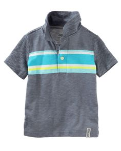 Kid Boy Engineered Stripe Jersey Polo from OshKosh B'gosh. Shop clothing & accessories from a trusted name in kids, toddlers, and baby clothes.