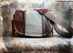 Leather Camera Bag Art Deco -  Tapestry Medium DSLR - IN STOCK. $140.00, via Etsy.