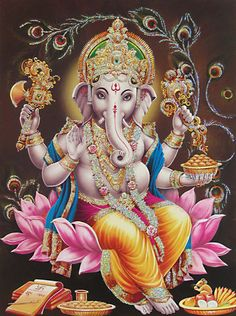 Perfect with all the aspests i want in my tatt.Ganesh, the Hindu God of removing obstacles. So in love with Hindu art right now! Lord Ganesha, Arte Ganesha, Lord Krishna, Ganesha Pictures, Ganesh Images, Indian Gods, Indian Art, Religion, Ganesha Tattoo Lotus