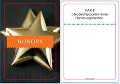 Honors: Take a leadership position in an Honors organization