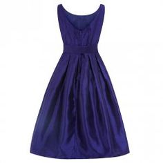 'Evelana' Purple Pansy Party Dress
