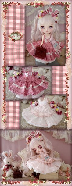 Dolly Dress, Milk Tea, Doll Hair, Ball Jointed Dolls, Blythe Dolls, Beautiful Dolls, Doll Clothes, Projects To Try, Dollhouses