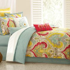 echo design Jaipur Duvet Collection - or maybe yellow, reddish orange, and blue?