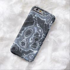 Blue Grunge Paint Splatter Fractal Fantasy Pattern iPhone 6 Case