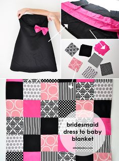 Tons of ideas for quilts.  Dresses, old blankets >> baby quilts!