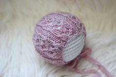 Knitting Pattern, Knit PDF Pattern,  Newborn Hat Pattern, PHOTO shoot prop,  Knit, Tutorial, PDF, Newborn hat, Elise Bonnet by CreamoftheProp on Etsy