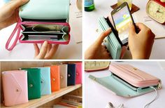 GroopDealz | Smartphone Wallet - 7 Stylish Colors.  Santa just got this for my stocking.  He is so smart :)