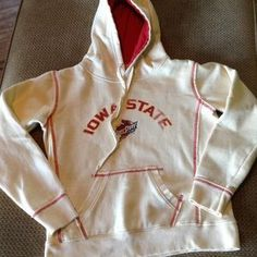 Colosseum Athletics Tops - Iowa State Small Distressed Hoodie