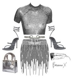 """""""Untitled #3446"""" by breannamules ❤ liked on Polyvore featuring René Caovilla, Jeremy Scott, Moschino and Christian Dior"""