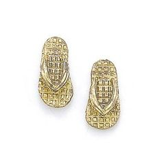 14k Gold Flip-Flop Stud Earrings >>> Find out more about the great product at the image link.