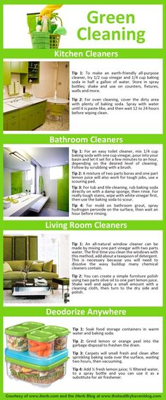 Green Cleaning Made Easy! A quick guide to green cleaning - get more info at wasteconnectionsmemphis.com
