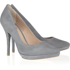 Pour la Victoire Daina suede pumps from the Outnet $113 - love the grey, but can you imagine how ruined they would get!