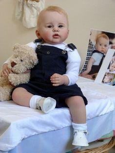 Lifelike Baby Boy Doll Reborn,George, by Berenice,scuplt by Ping Lau
