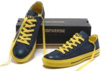 Scarpe Converse All Star Basse Blu Gialle Color Uomo