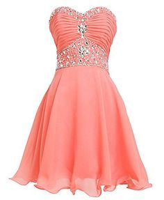 Fashion Plaza Short Chiffon Strapless Crystal Homecoming Dress D0263, http://www.amazon.com/dp/B00RMK0NI0/ref=cm_sw_r_pi_awdm_b4xWub1KD5HFW
