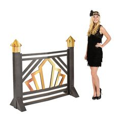 Roaring 20s Scroll Gate from OrientalTrading.com - Perfect for a Gatsby wedding!