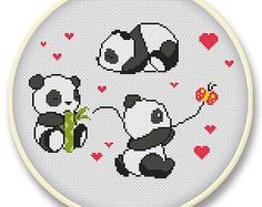 panda cross stitch - Google keresés