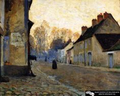 Rue Du Canal, Moret-sur-loing Artwork By Clarence Gagnon Hand-painted And Art Prints On Canvas For Sale,you Can Custom The Size And Frame Canadian Painters, Canadian Artists, Landscape Art, Landscape Paintings, Small Paintings, Clarence Gagnon, Art Prints For Sale, Impressionist Paintings, Sculpture