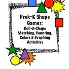 Mini-Pack of fun and simple early math games focused on shapes, colors, counting and beginning graphing skills. Includes: 4 Reproducible Variati...