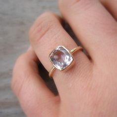 Ballerina Ring, 14k Gold and Morganite Made To Order. $748.00, via Etsy.