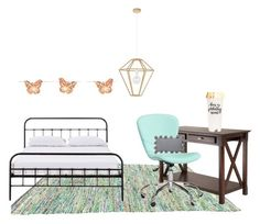 """""""Untitled #59"""" by giuliaabalanuta on Polyvore featuring interior, interiors, interior design, home, home decor, interior decorating, Winsome, PBteen, Harrods and Thro"""