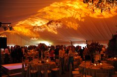 beautiful lighting ~ #patterned #lighting #wedding #party #EventuresInc