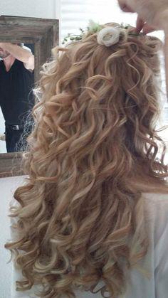 Mijn bruiloft haar; lang krullend haar 💖