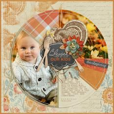"""""""Blessed by Our Kids"""" Digital Scrapbooking layout by Brandy Murry"""
