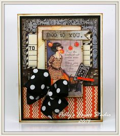 Vintage Inspired Halloween Cards with Really Reasonable Ribbon