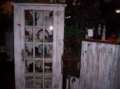 Rustic Primitive Cabinet , I built to display your collectables in, for my shop.