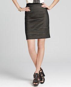 Cross Grain Lace Pencil Skirt