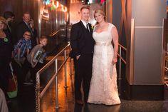 Christmas holiday themed wedding at Epcot by Orlando wedding photographer