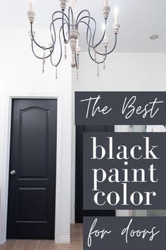 Dark Interior Doors, Interior Door Colors, Painted Interior Doors, Grey Interior Paint, Front Door Paint Colors, Painted Front Doors, Grey Paint Colors, Gray Paint, Paint Doors Black