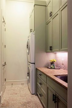 Would this work? Stack washer and dryer and take the space from dryer to use for cabinetry?