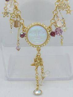 Kirks Folly Seaview Moon Fairy Dust Stars Heart Rhinestone Charm Necklace | eBay