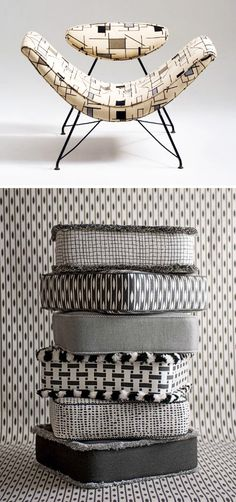 black-&-white-patterns. Would look lovely with vintage fabrics.