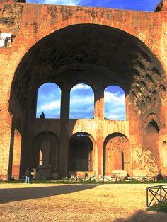 Basilica of Maxentius, Roman Forum, Rome, Italy