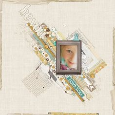 Message to Daughter #scrapbook page from Kayleigh at DesignerDigitals.com