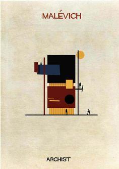Galería - ARCHIST: Ilustraciones Famosas de Arte Reimaginadas como Arquitectura - 2