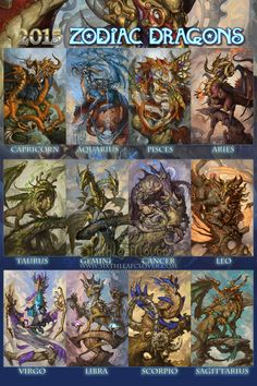 2015 Zodiac Dragons by The-SixthLeafClover.deviantart.com on @DeviantArt