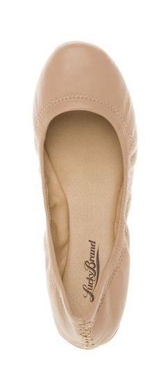 Emmie Flats - Light Tan Ballet Flats - very versatile!