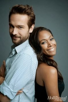 Tom Mison and Nicole Beharie from my new favorite guilty pleasure show, Sleepy Hollow.