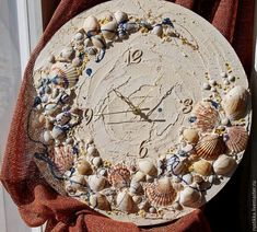 """Купить Настенные часы """"Забытое время"""" - бежевый, часы для дома, часы в подарок, морские часы"""