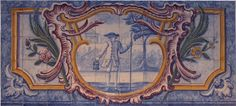 18th century Portuguese tile murals, from the first half of the 18th century