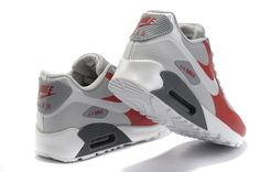 Nike Air Max 90 Hyperfuse Mens White Red Grey