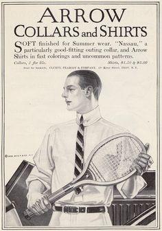 Arrow 1912 Vintage Advertisements, Vintage Ads, Vintage Posters, Vintage Clothing, Jc Leyendecker, Advertising History, Ivy League Style, Arrow Shirts, Ad Art